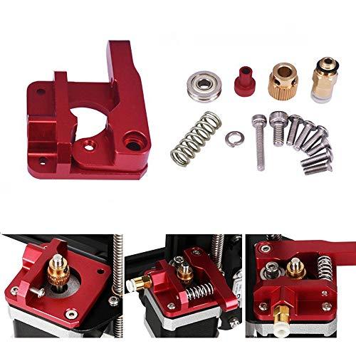 MK8 Extrusor de repuesto actualizado, Vibury aluminio MK8 Drive Feed 3D impresora extrusores 1.75mm Filament para Creality Ender 3/3 Pro CR-10, CR-10S, CR-10 S4, CR-10 S5 mano izquierda