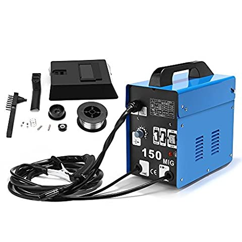 SUNGOLDPOWER MIG 150A Welder Flux Core Wire Automatic Feed Welding