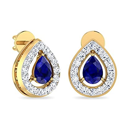 PC Jeweller The Idumia 18KT Yellow Gold, Diamond & Gemstone Earring