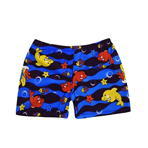 Elecenty Kid Children Boys Swimwear Pants, Cheap Summer Cartoon Print Stretch Beach Swimsuit Swimwear Pants Shorts For 2-8 Years Old