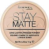 Rimmel London Stay Matte Pressed Powder, 005 Silky Beige, 14 g