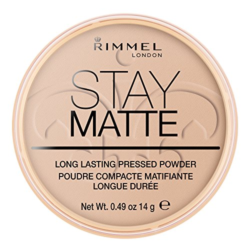 Rimmel London Stay Matte Pressed Powder, 005 Silky Beige, 14 g