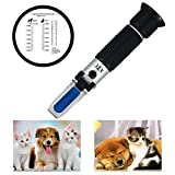 RCYAGO Animale domestico rifrattometro clinico cani e gatti veterinari siero proteina rifrattometro tenuto in mano