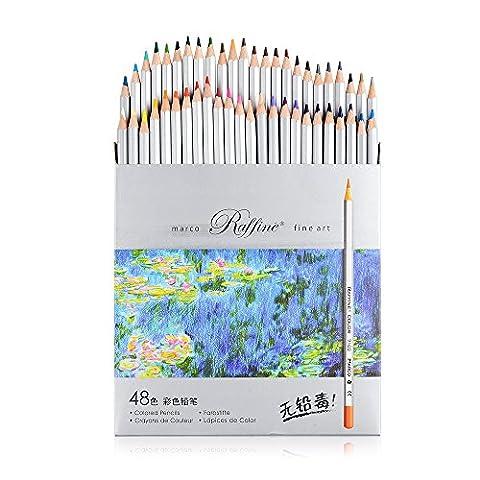 Marco raffiné ® 48couleurs Fine Art Dessin Crayon 7100–48CB non toxique Peinture Artiste Esquisse Craft Doodling Designs