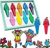 Liuer Lápices de Colores 9 Pinturas de Colores Infantiles Crayón No Tóxicas y Seguras Lavables Crayones para Bebés Niñas Niños 1 año 2 3 4 5 6 años Fiesta de Cumpleaños Regalo(Helados Estilo)