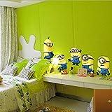 DESPICABLE ME 2 MINIONS decoración chico sala pegatinas de pared calcomanías...