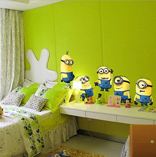 Image of DESPICABLE ME 2 wall stickers Vinyl Art decals room kid decor MINIONS Removable.