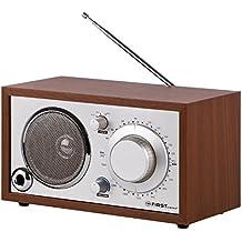 First Austria 001907Retro Radio con AUX-In para móvil carcasa de madera marrón