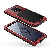 seacosmo Galaxy S9 Plus Hülle, [Tough Armor] Aluminium Doppelte Schutz Stoßfest Schutzhülle für Samsung Galaxy S9+, Rot