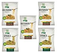 NutraHi Gluten Free Spaghetti Combo - 3 x Multigrain and 2 x Spinach - 84gm Each