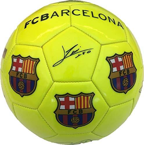 Balón Amarillo fluorescente FC Barcelona, Nº 5