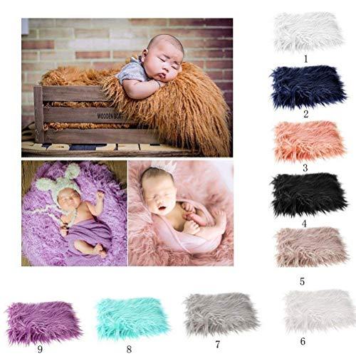 OULII Baby-Zubehör, Zubehör Leder Weich Bettwäsche Tapete Fotopapier Baby DIY Foto Mantel Baby Foto gunstbezeigungen (Pink)