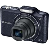 Samsung WB50F 16.2MP Smart WiFi and NFC Digital Camera with 12x Optical Zoom and 3.0-inch LCD (Black), 4GB Card, Camera Case