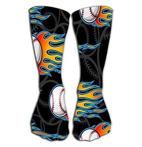 LULABE Outdoor Sports Men Women High Socks Stocking baseball softball ball icon flame symbol hot rod ideal wallpaper packaging Simple Tile length,Socks size:24 inches(60CM) - Wallpaper Hot Rod