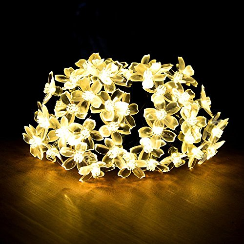 Feicuan Guirlande Lumineuse Battery Powered 5M/50 Blossom Flower LED Fairy Light pour Jardin Xmas Mariage Party Bedroom Decor
