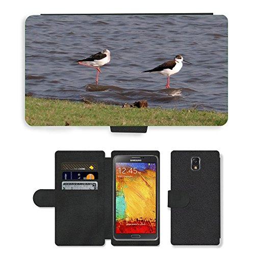 hello-mobile PU LEDER LEATHER FLIP CASE COVER HÜLLE ETUI TASCHE SCHALE // M00137338 Stelzenläufer Gemeinsamen Stelzenläufer // Samsung Galaxy Note 3 III N9000 N9002 N9005