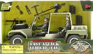 Peterkin - Véhicule de guerre et deux figurines de soldats - World Peacekeepers Fast Attack Vehicle (FAV)