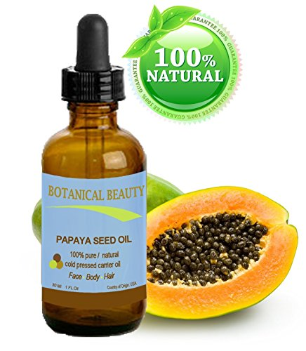 "Preisvergleich Produktbild Botanical Beauty Papaya Seed Oil. 100% Pure / Natural / Undiluted /Refined Cold Pressed Carrier Oil. 1 Fl.oz.- 30 ml. For Skin, Hair And Lip Care. ""One Of The Richest Natural Sources Of Vitamin A & C And A Remarkable Stable Source Of Omega 6 & 9 And Natural Fruit Enzymes- Papain."""