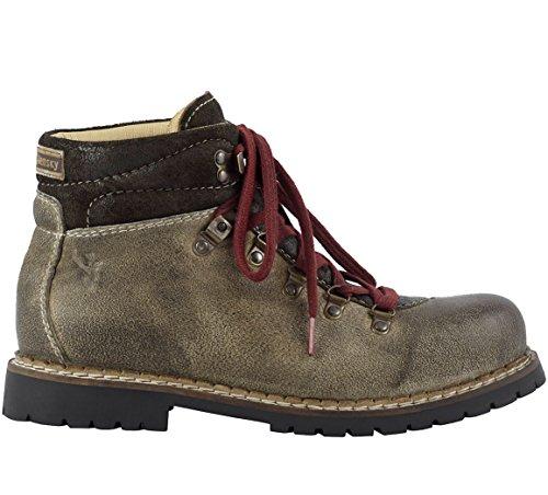 Spieth & Wensky Herren 550 H Jarrek-Boots Combat, Beige (Whisky 5040), 42 EU