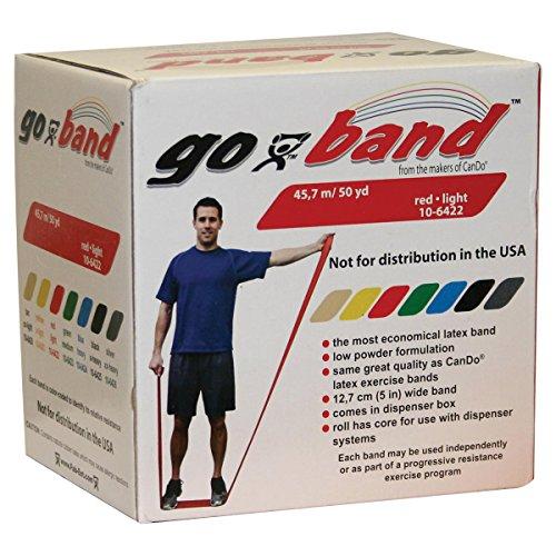 Trainingsband / Gymnastikband, Länge 45 m, CanDo® Go-Band, rot (leicht) (Cando-übungsband)