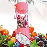 #9: KANTHI USB Juicer Cup, Fruit Mixing Machine, Portable Personal Size Eletric Rechargeable Mixer, Blender, Water Bottle 380ml with USB Charger Cable Portable Juice Blender and Mixer