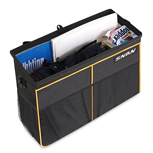 SNAN Auto Rücksitz Organizer Rücksitztasche / Getränke-Halter / Sitzlehne Organizer / Multi-Tasche Aufbewahrungstasche wasserdicht für alle Arten von Autos, Schwarz