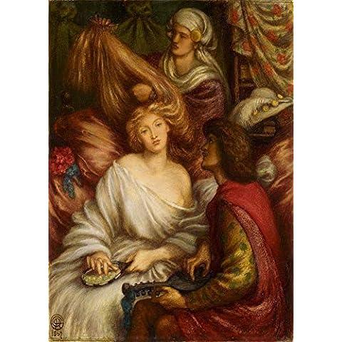 Dante Gabriel Rossetti Mattina Musica C1867250gsm Lucido Art poster A3di riproduzione