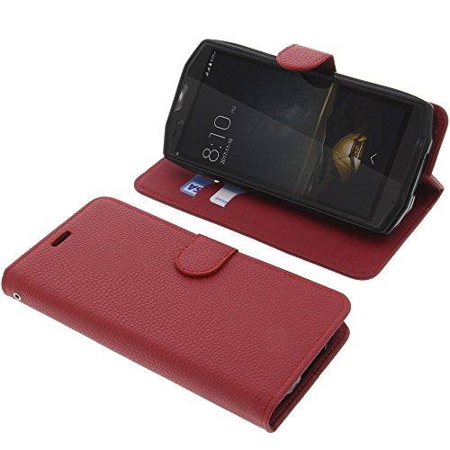 foto-kontor Tasche für Blackview BV9000 / BV9000 Pro Book Style rot Schutz Hülle Buch