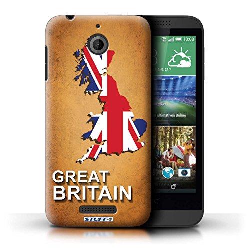 Kobalt® Imprimé Etui / Coque pour HTC Desire 510 / Australie conception / Série Drapeau Pays grande-Bretagne