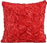 Fluffy Kissenhülle ca. 70 x 70 cm kuschelweicher Plüsch in Felloptik (50 Rot) 1 Stück