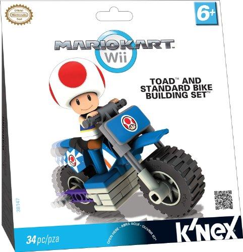 K'Nex 33126T - Mario Kart Toad mit Bike (Knex Mario Figuren)