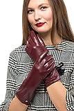 Lange Lederhandschuhe Ellenbogenlänge mit Reißverschluss für Frauen