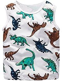 5e07d2802a1c Topgrowth Maglietta Neonato Bambino Camicia T-Shirt con Stampa di Dinosauri  Canotta Felpa Senza Maniche