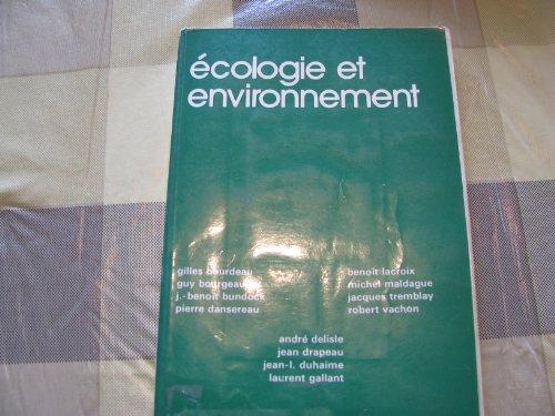 Ecologie et environnement