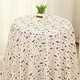 ONECHANCE Tischdecke Vorhang Floral Stoff Baumwolle Leinen