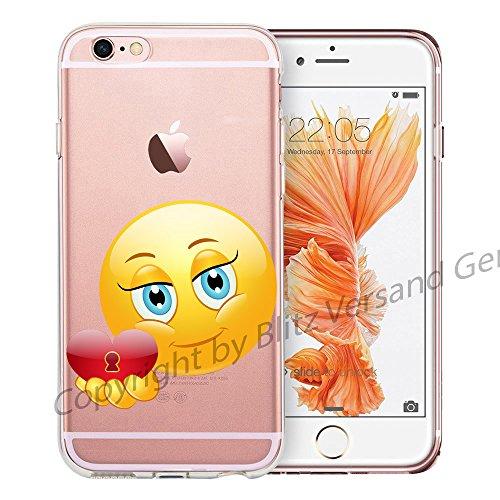 Blitz® EMOJI motifs housse de protection transparent TPE caricature bande iPhone Langue M14 iPhone 4 Mon coeur pour vous M13
