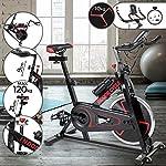 Spin-Bike-Professionale-Ergometro-Regolatore-di-Velocita-Sedile-e-Manubrio-Regolabili-Display-Sensori-delle-Pulsazioni-Bicicletta-da-Camera-Bici-da-Fitness