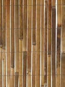 Apollo Gardening Ltd brise-vue en bambou naturel demi-canne modèle plat