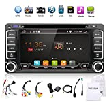 """Upgrade Version with Camera!!!Wifi Model 6.95"""" Android 6.0 Quad-Core Car DVD Navigation Gps Stereo for Toyota Car Support 3G Wifi Hotspots/Bluetooth/Subwoofer/Mirror Link/SD Card/USB/OBD2"""