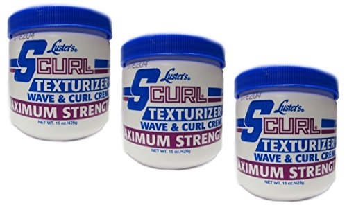 3x Lusters Luster SCURL Texturizer Wave & Curl Creme MAXIMUM STRENGTH 425g (insgesatm - 1275g) - S-curl Relaxer