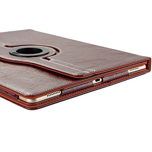 Coque iPad Mini 3, elecfan® Slim Fit Étui de protection pour iPad Mini 123Étui avec fonction support et insigne bautem aimant pour veille/veille pour Apple iPad Mini 3, Ipad Mini 2et iPad mini 7,9 marron