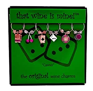 That wine is mine! Wine Glass Charms - Casino