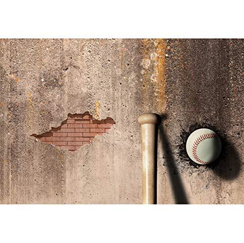 tergrund Baseballschläger Altes Peeling Ziegelwand Baseball Hintergrund Sport-Party Kinderspiel Athlet Sportausrüstung Produkt Fotografie schießen Requisiten ()