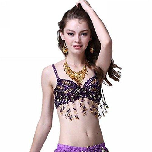 Danza del ventre costume reggiseno Top reggiseno costumi perline frange reggiseno dancewear