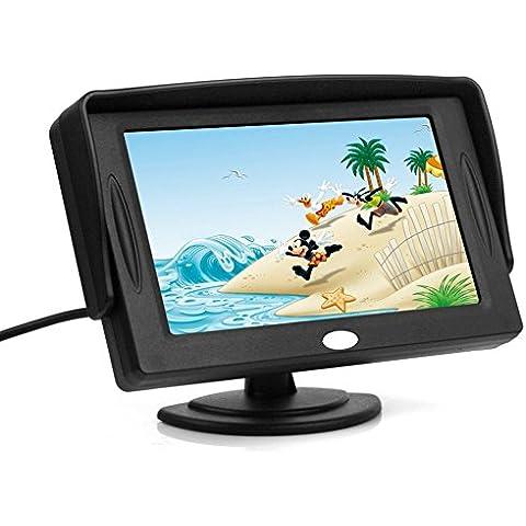 Generic - Telecamera posteriore GPS per parcheggio auto, monitor 4,3