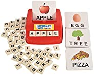 Literacy Fun Game Matching Letter Game, 60 Flash Cards English Word Spelling Memory Puzzle Board Sight Words P
