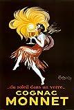 (24 x 36) Leonetto Cappiello Monnet Cognac, Retro-Werbung Poster Kunstdruck