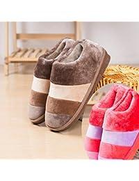 LaxBa Stoßdämpfung Atmungsaktiv und Weichen Schlafzimmer Indoor Winter Hausschuhe für Männer und Frauen Rosa 40-41 (für 38-39 Fuß code