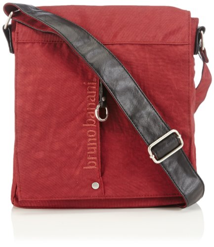 Bruno Banani Shoulder bag mit Überschlag, Borsa a spalla donna Rosso Bordeaux 23x25x7 cm (B x H x T)