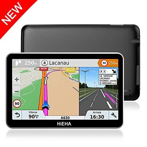 5' GPS Automatique de Voiture Moto 8GB, HiEHA Système de Navigation Automatique à Ecran Tactile, Intégrer Le Système des Instructions Vocales, Multi-Languages